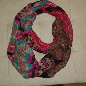 Beautiful color color patterned scarf